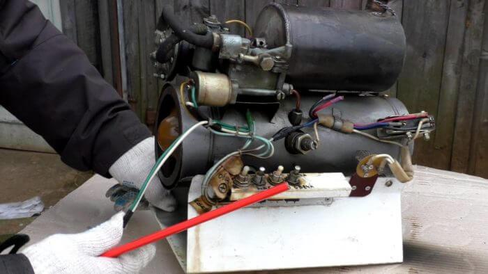 печка машины