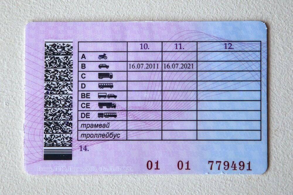 Образец новых водительских прав